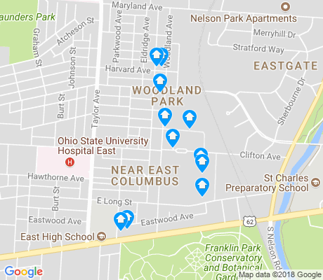 map of Woodland Park apartments for rent