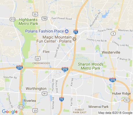 map of Worthington Woods apartments for rent
