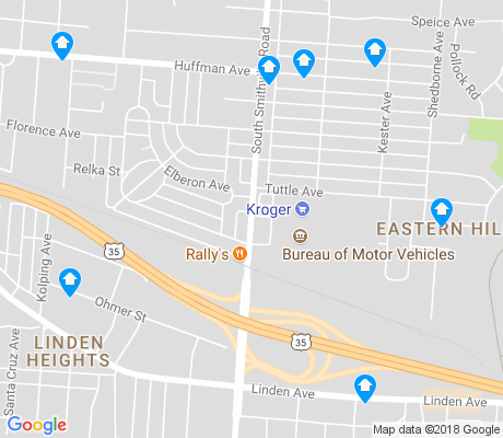 map of Eastern Hills apartments for rent