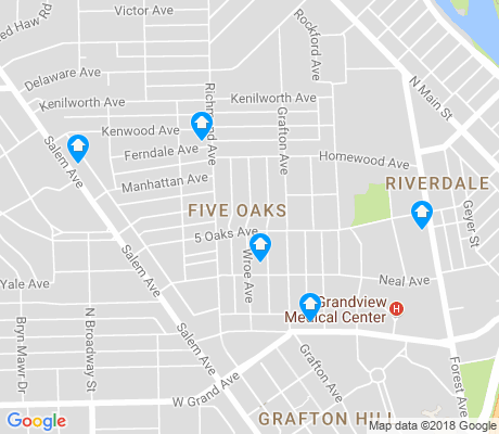 map of Five Oaks apartments for rent