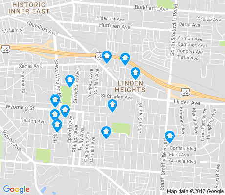 map of Linden Heights apartments for rent
