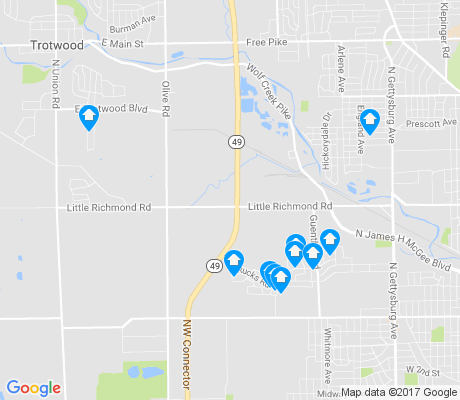 map of Little Richmond apartments for rent