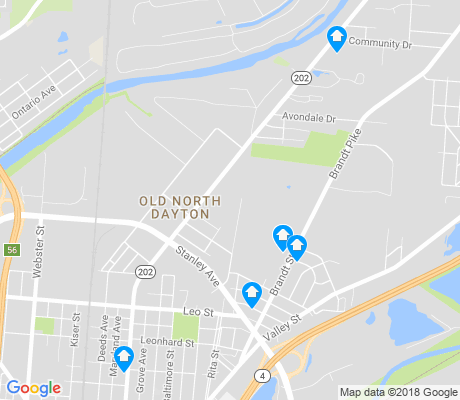 map of Old North Dayton apartments for rent