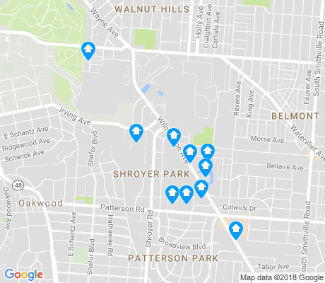map of Shroyer Park apartments for rent