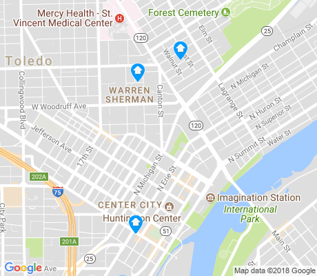 map of 43604 apartments for rent