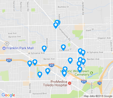 map of DeVeaux apartments for rent