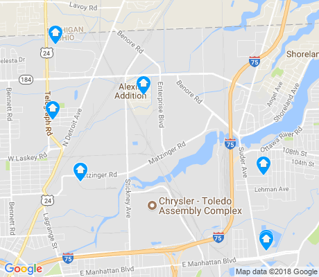 map of Fort Industry apartments for rent