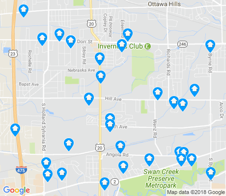 map of Reynolds Corners apartments for rent
