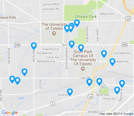 map of Scott Park apartments for rent