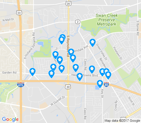 map of Southwyck apartments for rent