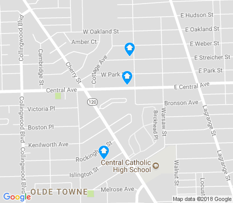 map of TOTCO apartments for rent