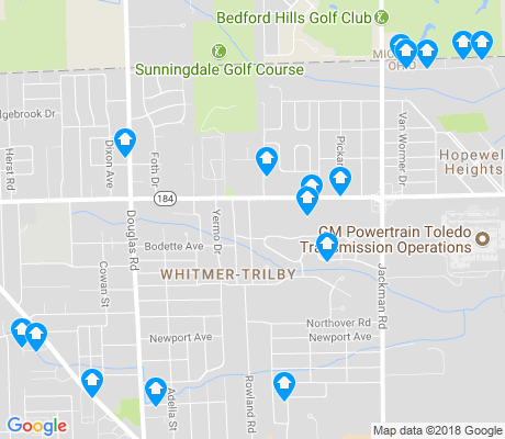 map of Whitmer-Trilby apartments for rent