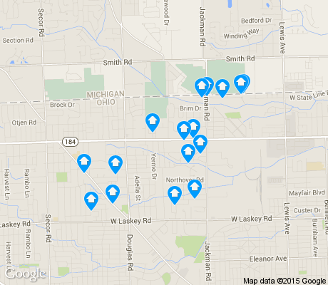 map of Whitmer - Trilby apartments for rent