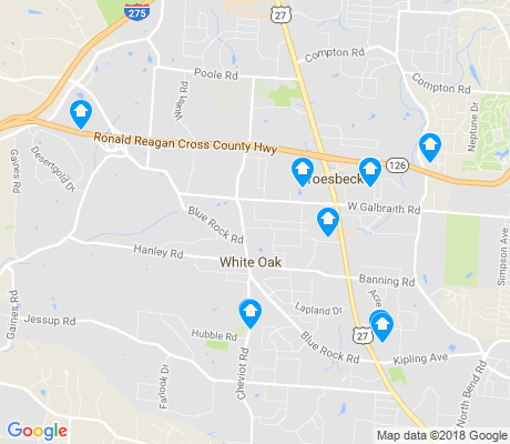 map of White Oak apartments for rent