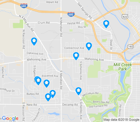 map of 44509 apartments for rent