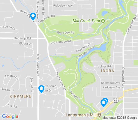 map of Kirkmere apartments for rent