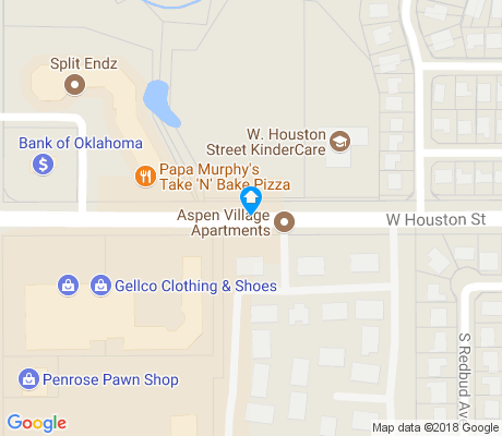 map of Aspen Creek apartments for rent