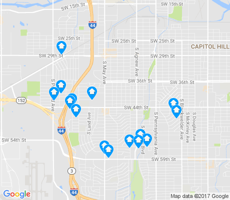 map of 73119 apartments for rent