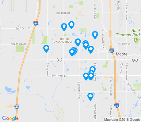 map of 73170 apartments for rent