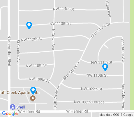 map of Bluff Creek apartments for rent