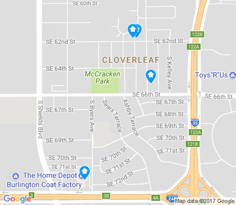 map of Cloverleaf apartments for rent