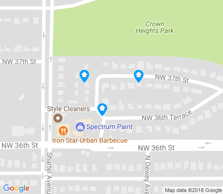 map of Crown Hts. - Edgemere Hts. apartments for rent