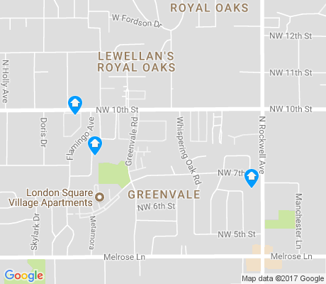 map of Greenvale apartments for rent