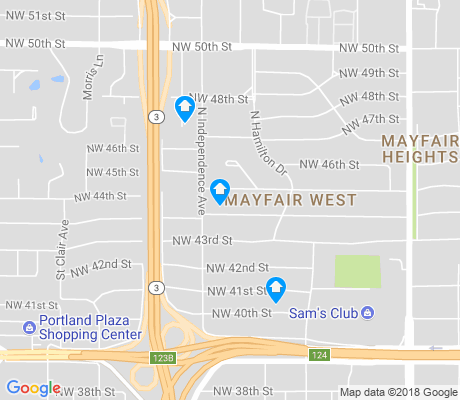 map of Mayfair West apartments for rent