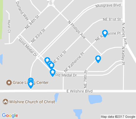 map of Musgrave apartments for rent