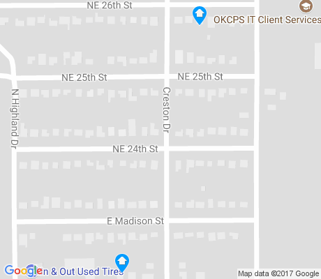 map of North Creston Hills apartments for rent
