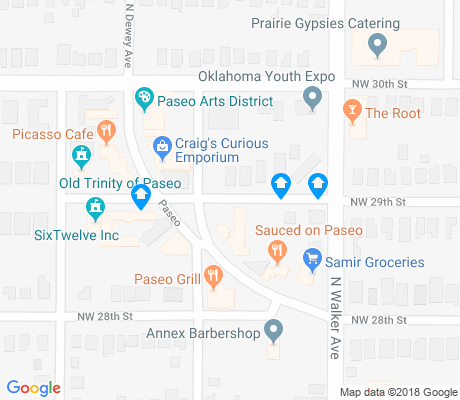 map of Paseo apartments for rent
