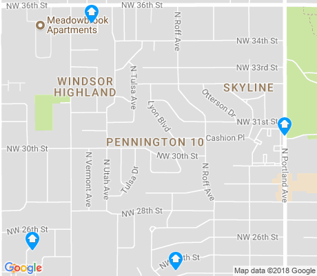 map of Pennington apartments for rent