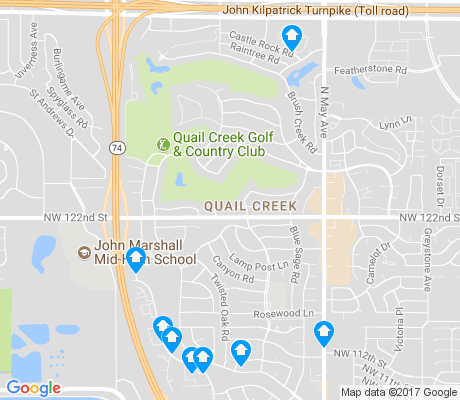 map of Quail Creek apartments for rent