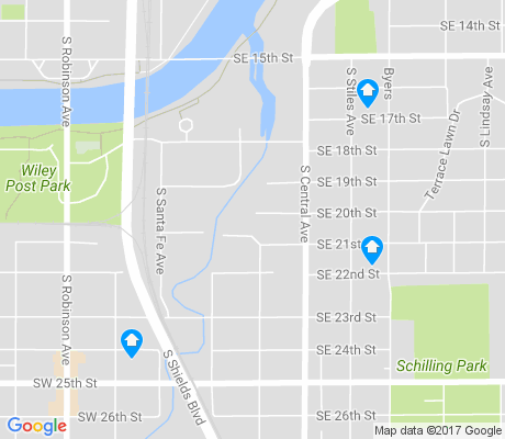 map of Shidler-Wheeler apartments for rent