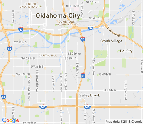 map of South Lindsey apartments for rent