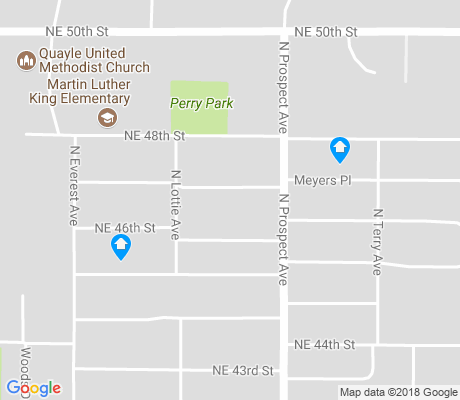map of South Park Estates apartments for rent