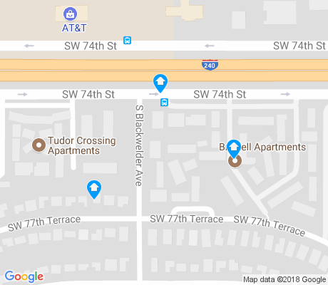 map of Southern Hills apartments for rent