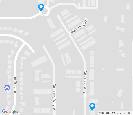 map of The Crossing apartments for rent