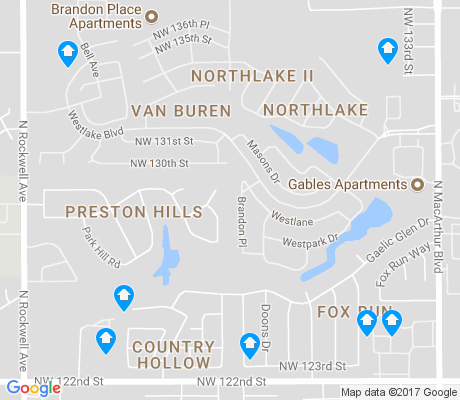 map of Van Buren apartments for rent
