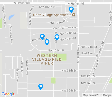 map of Western Village-Pied Piper apartments for rent