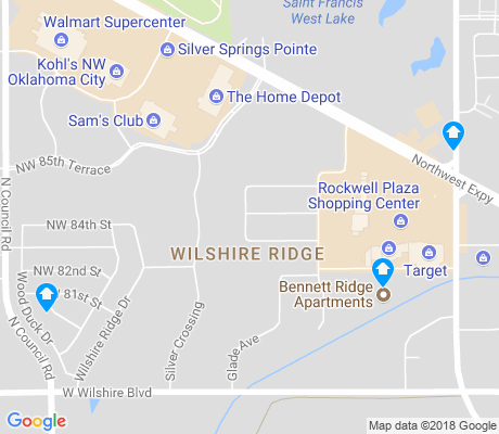 map of Wilshire Ridge apartments for rent