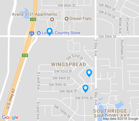 map of Wingspread apartments for rent