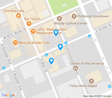 map of Brady Arts District apartments for rent