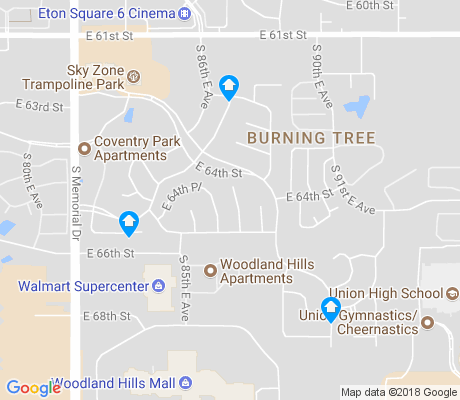 map of Burning Tree apartments for rent