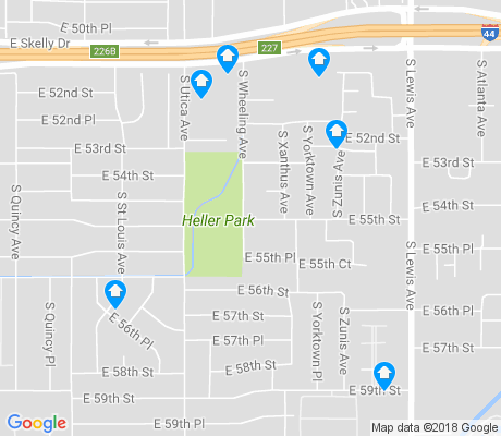 map of Heller Park apartments for rent
