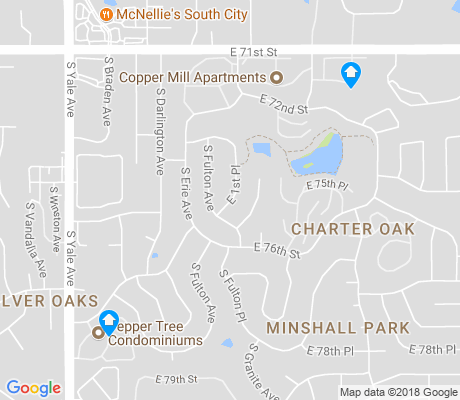 map of Minshall Park apartments for rent