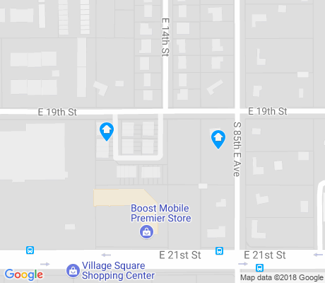 map of O'Connor Park apartments for rent