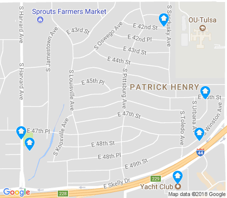 map of Patrick Henry apartments for rent
