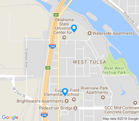 map of Riverview Park apartments for rent