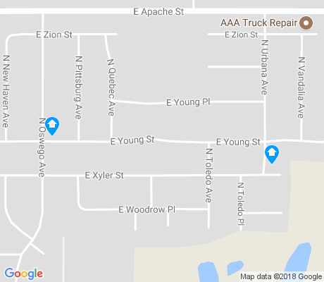 map of Xyler apartments for rent